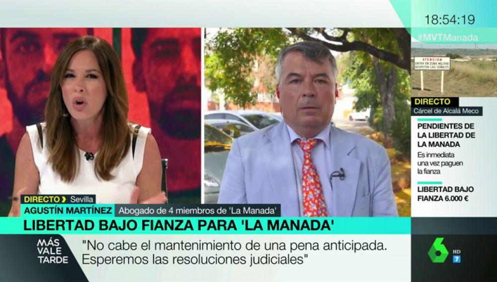 """Tensa entrevista de Mamen Mendizábal al abogado de 'La Manada': """"Usted tiene la necesidad de defenderles, yo no"""""""
