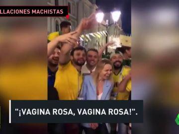 """Polémica en Brasil por el trato de unos hinchas a una mujer rusa: """"¡Vagina rosa!"""""""