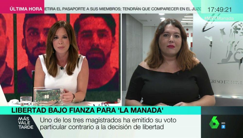 """Ángela Rodríguez: """"Es una vergüenza que en 2018 las mujeres sigan teniendo miedo a salir a la calle o al volver a casa"""""""