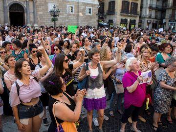 Manifestación contra la liberación de La Manada