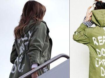 Enigmática chaqueta de Melania Trump