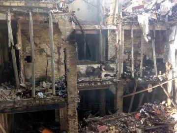 Edificio destrozado en el barrio de Triana, Sevilla