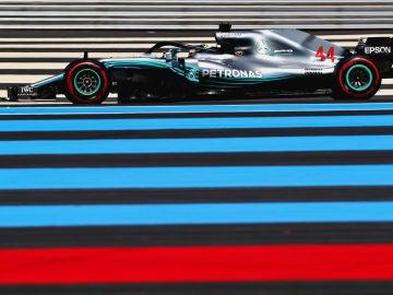 Lewis Hamilton, rodando en el circuito Paul Ricard