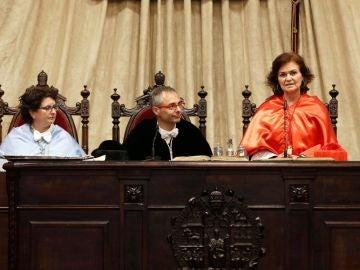 Carmen Calvo, vicepresidenta y ministra de Igualdad
