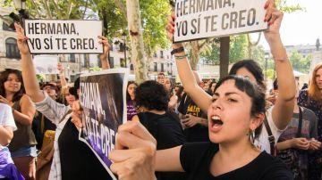 Protestas contra la decisión judicial sobre 'La Manada'