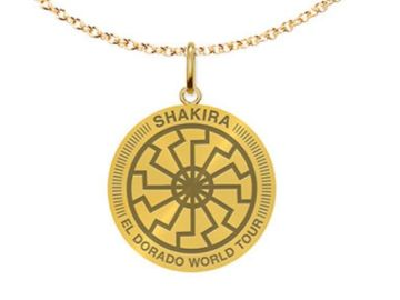 Imagen del colgante a la venta en la web de Shakira que ha despertado las críticas