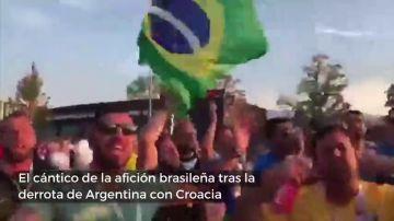 La afición brasileña se mofa de Argentina: cambian el 'Bella Ciao' por el 'Messi Ciao'