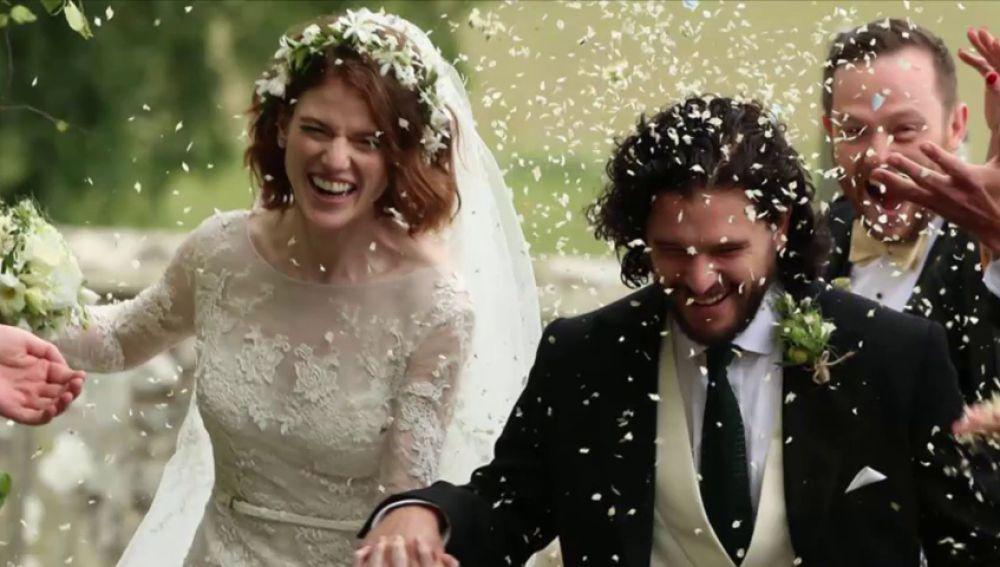 La boda de Kit Harington y Rose Leslie reúne al reparto de 'Juego de Tronos' antes del final de la serie
