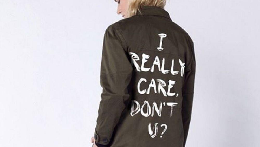 La chaqueta de la marca Wildfang en respuesta a la de Melania Trump