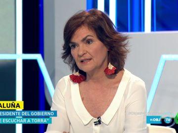 La vicepresidenta del Gobierno y ministra de Igualdad Carmen Calvo