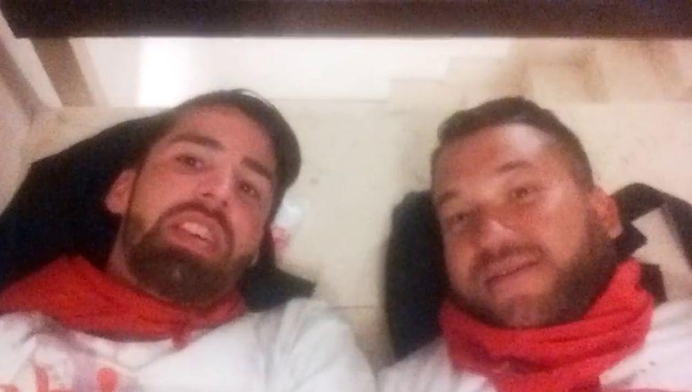 'El Prenda' y Escudero, dos de los miembros de 'La Manada'