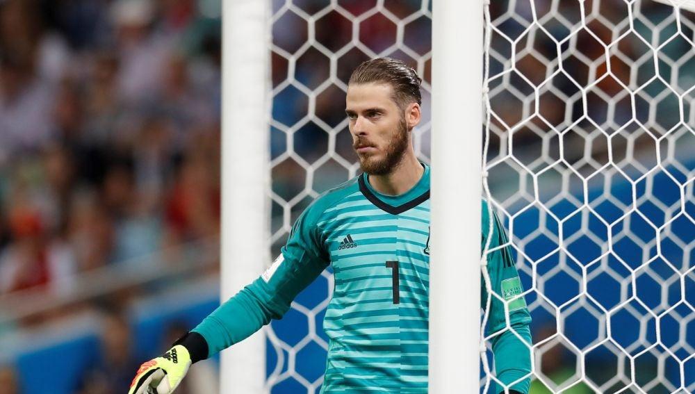 De Gea, durante un partido de España