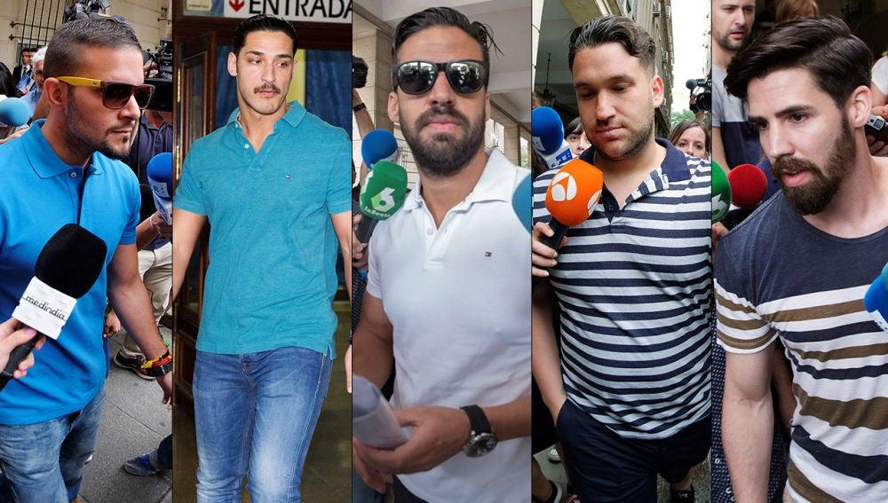 Los cinco miembros de 'La Manada'