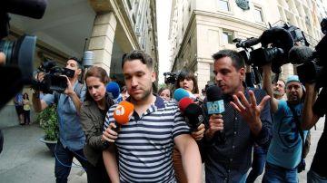 José Ángel Prenda, uno de los miembros de 'La Manada' a su llegada al juzgado de Sevilla