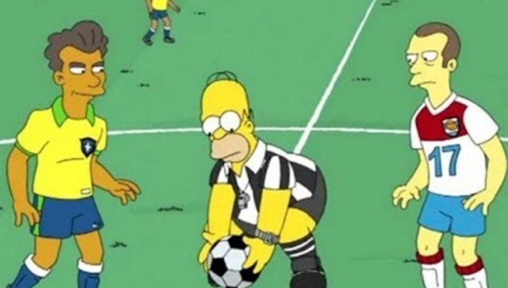'Los Simpson' emite la final del Mundial de Rusia 2018