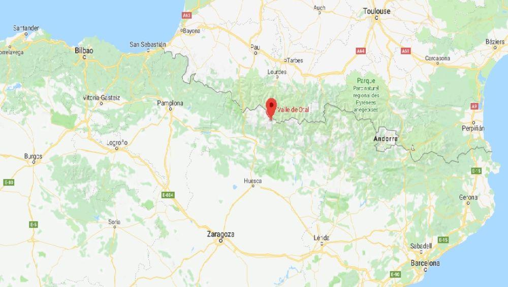 Valle de Otal en Huesca, zona de cascadas donde ocurrió en accidente