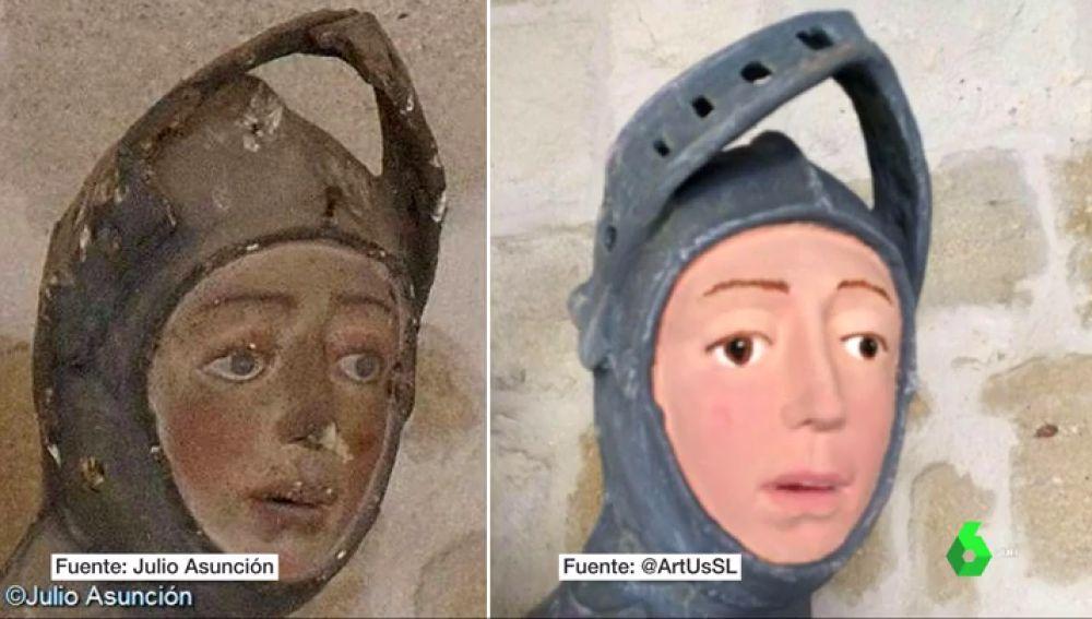 'Ecce Homo' a la Navarra: la polémica restauración del San Jorge de la iglesia de San Miguel de Estella