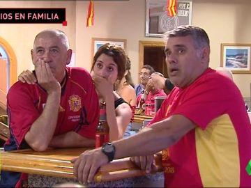 El sufrimiento de la familia de Hierro con el partido de la Selección