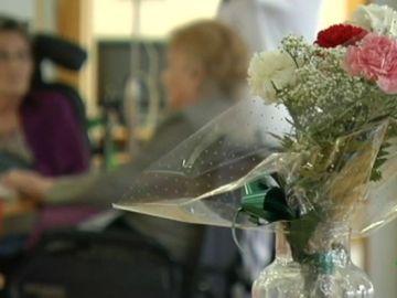 Flores en un hospital