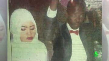 Nora Hussein y su marido.
