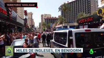 Los hooligans provocan serios disturbios en Benidorm