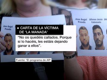 """""""No os calléis, denunciad"""": la víctima de 'La Manada' rompe su silencio en una emotiva y reivindicativa carta"""