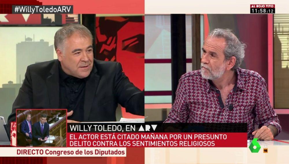 """El mensaje de Willy Toledo a la Asociación de Abogados Cristianos: """"Las vírgenes también tienen coño"""""""