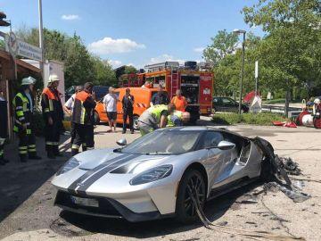 Ford GT incendiado en Múnich