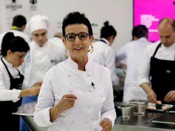 Imagen de archivo de la chef, Carme Ruscalleda, durante su participación en uno de los talleres de alta cocina organizada en el marco del Salón Alimentaria