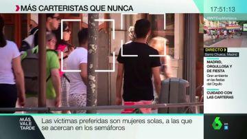 Imagen de los carteristas en Madrid