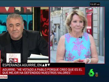 Esperanza Aguirre en Al Rojo Vivo