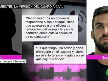 """La conversación del guardia civil de 'La Manada' con el 091 sobre su pasaporte: """"Debo entregarlo en el juzgado y no sé si lo tengo en regla"""""""
