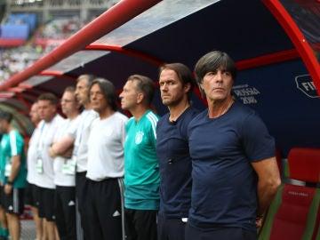 Joachim Löw, durante un partido de Alemania en el Mundial
