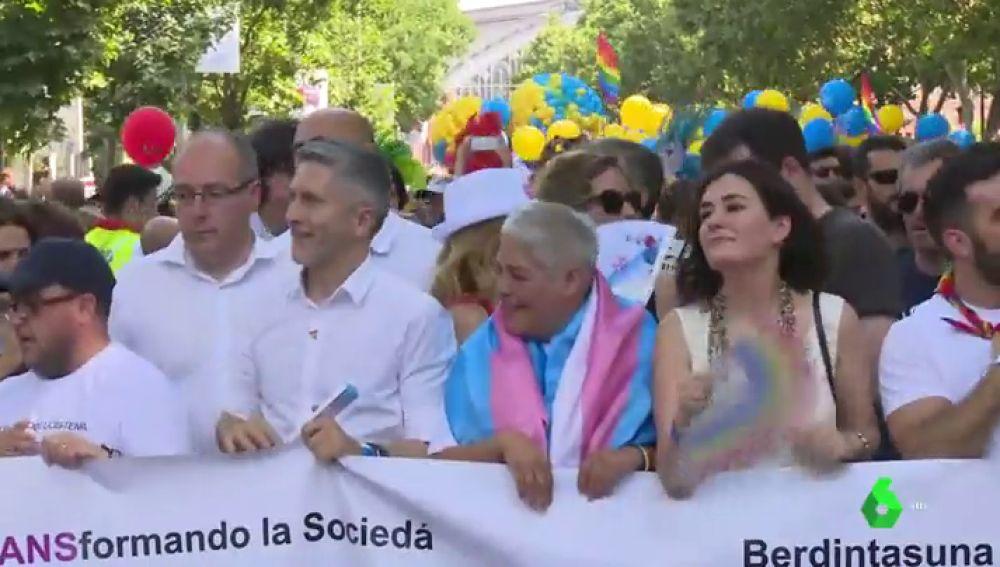 Ministros en la manifestación del Orgullo