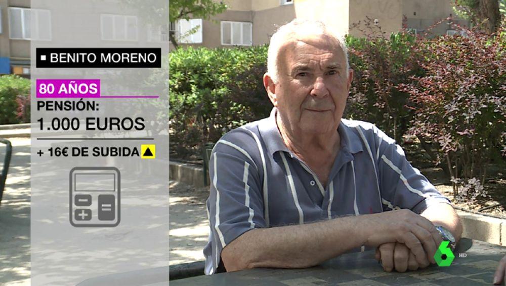 Benito Moreno, pensionista
