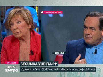 Celia Villalobos y José Bono