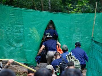Operaciones de rescate en la cueva de Tailandia