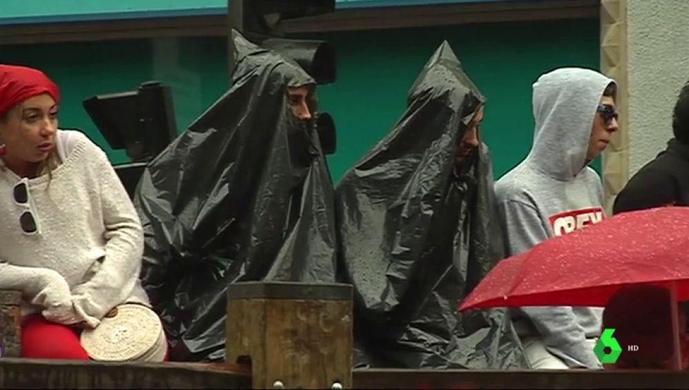 La lluvia, protagonista de los Sanfermines