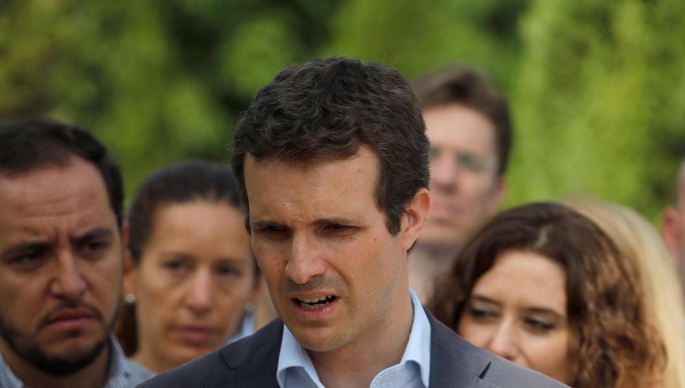 El candidato a la presidencia del Partido Popular Pablo Casado