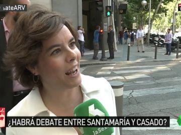 """Santamaría está dispuesta a debatir con Casado, pero cree que """"hay que dar prioridad al diálogo por el acuerdo"""""""