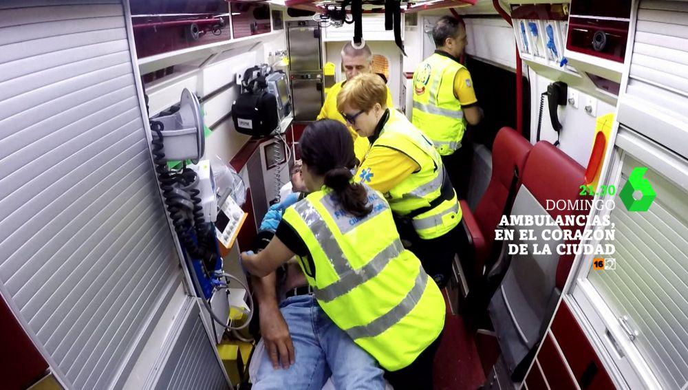 Ambulancias, en el corazón de la ciudad