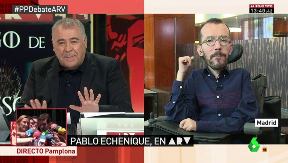 """Echenique: """"El PP vive de la confrontación y el odio. Son como vampiros que se alimentan de lo peor de nuestro país"""""""