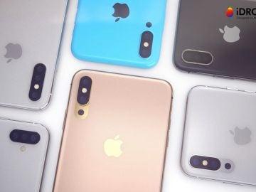 iPhone con tres cámaras (concepto)