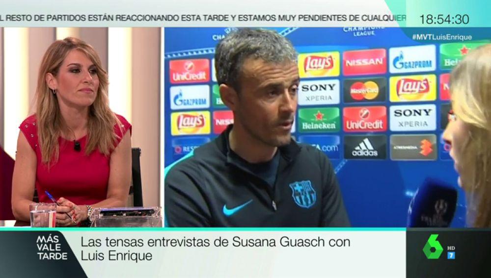 """Recopilamos las tensas entrevistas de Susana Guasch con Luis Enrique: """"Habla de lo que quieras, yo te contesto lo que me apetezca"""""""
