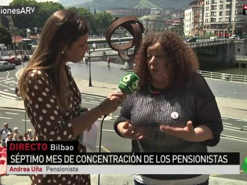"""La reivindicación de Andrea Uña, pensionista: """"No vamos a parar hasta lograr una pensión mínima de 1.080 euros"""""""