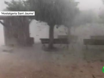 Imagen de las tormentas en Castellón