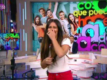 """Cristina Pedroche se asusta de ver a Miki Nadal: """"Es que hacía tres días que no le veía"""""""