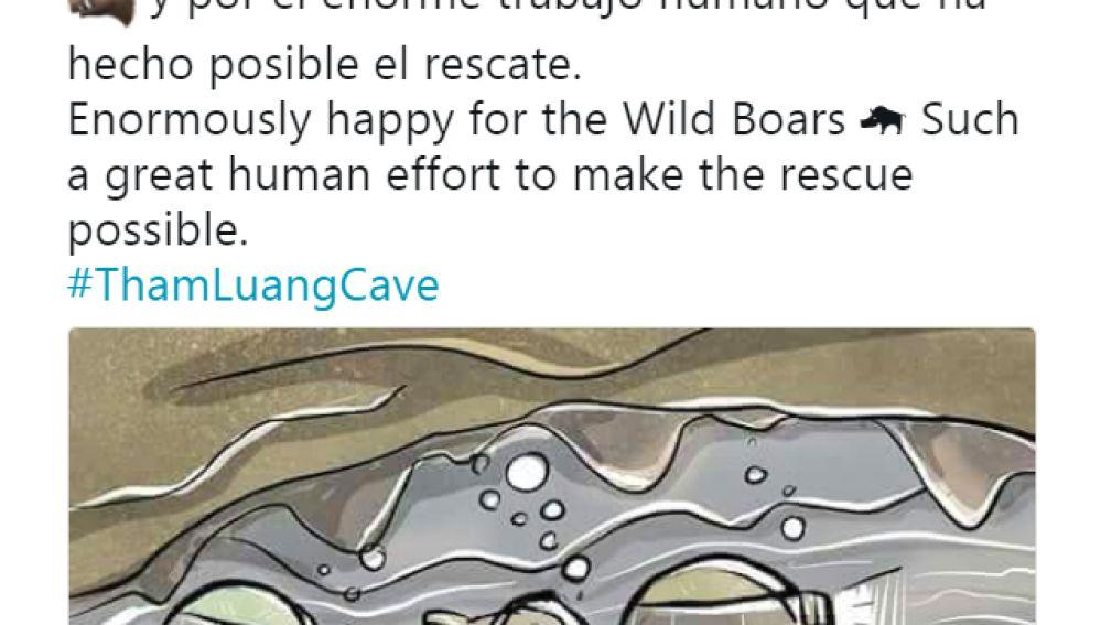 Tweet de Ramos sobre los niños de la cueva de Tailandia