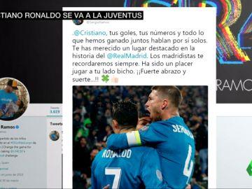 """El mensaje de Sergio Ramos a Cristiano Ronaldo: """"Los madridistas te recordaremos siempre"""""""