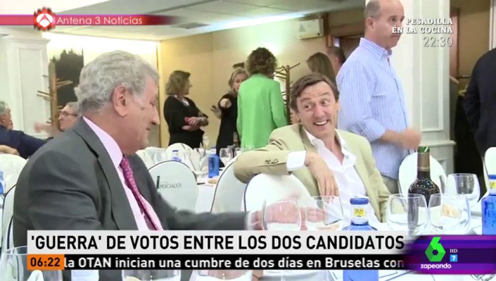 Rafael Hernando en una cena del PP